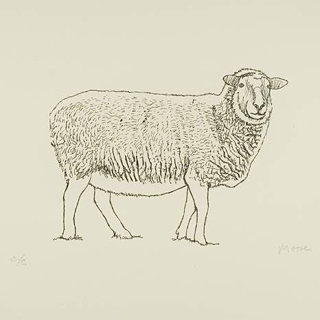 Henry Moore, Sheep Standing 1974 (CGM 351)
